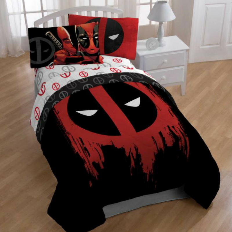 Deadpool Bedroom Bed Set Pillows, Bedsheet, Duvet Cover