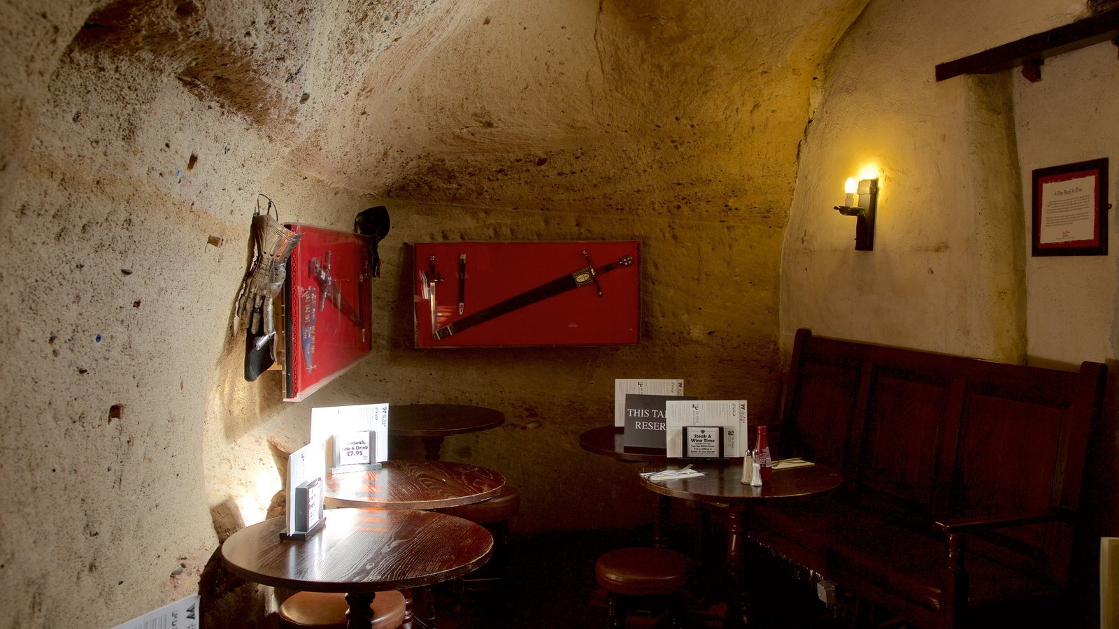 St. George's Day small cosy pub room with a wall art of a sword