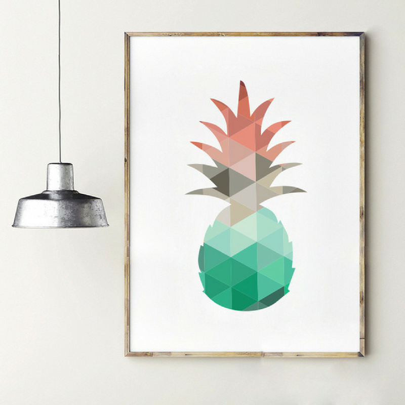 Geometric Patterns Pineapple Wall Art