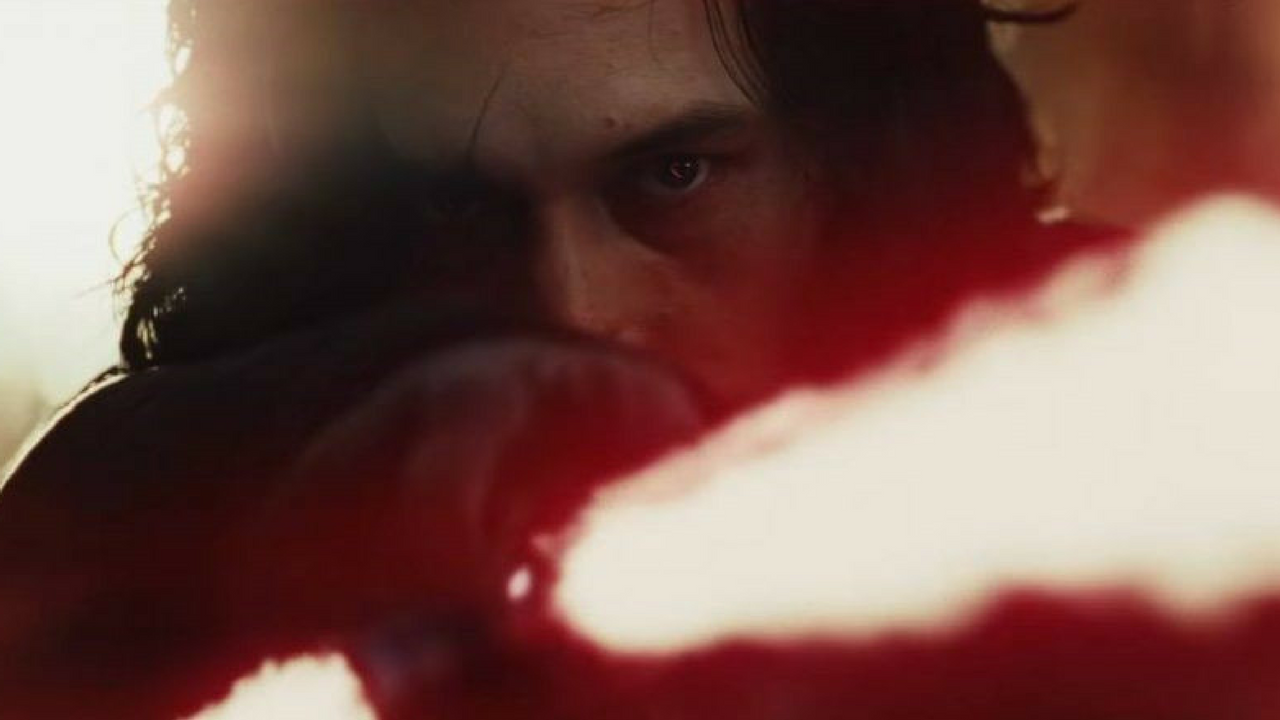 Star Wars May the 4th be with you Kylo Ren holding his Red lightsaber in The Last Jedi