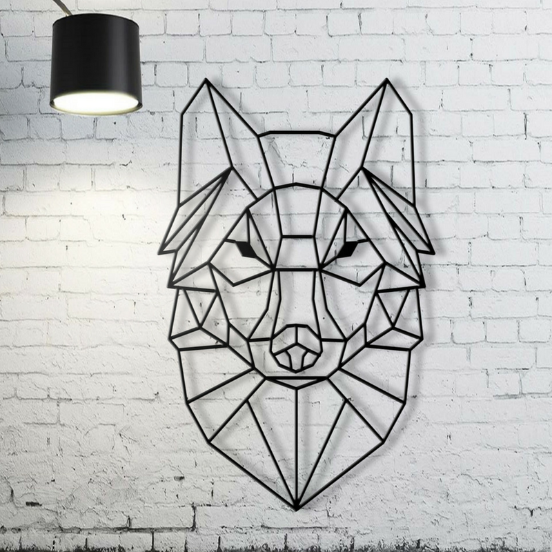 Geometric Patterns Wolf Wall Art