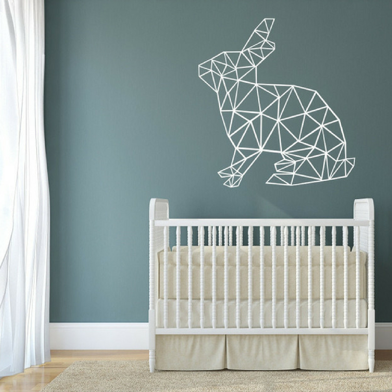 Geometric Patterns Rabbit Wall Art