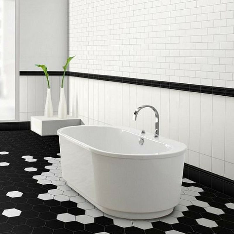 Geometric Patterns floor tiles for the bathroom