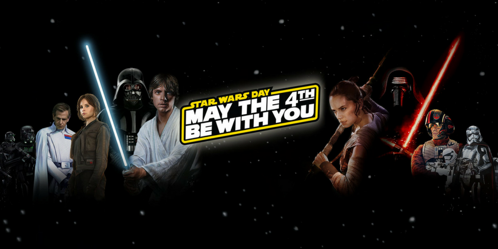 Star Wars May the 4th be with you banner image