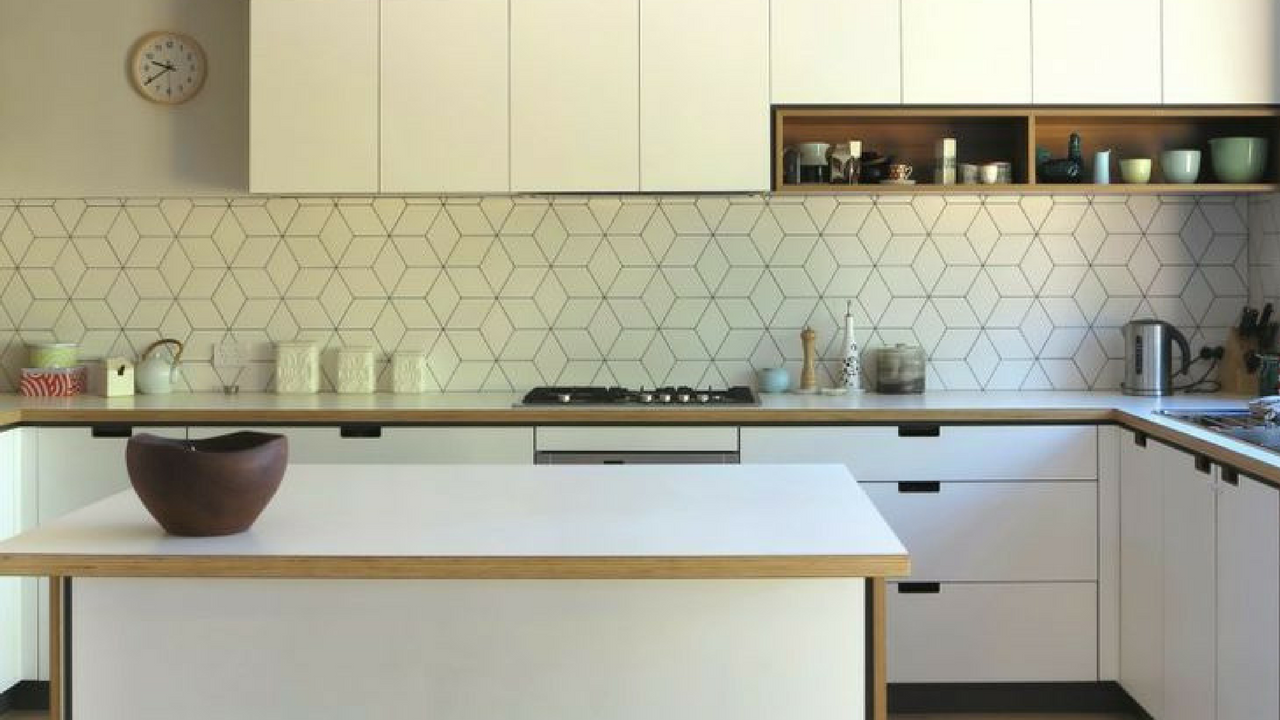 Geometric Patterns in a minimalist Kitchen