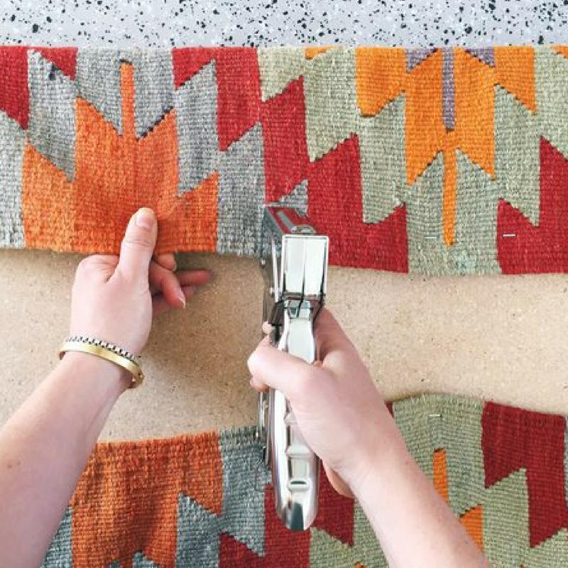 turn kilim rug into a bench upcycle your rug