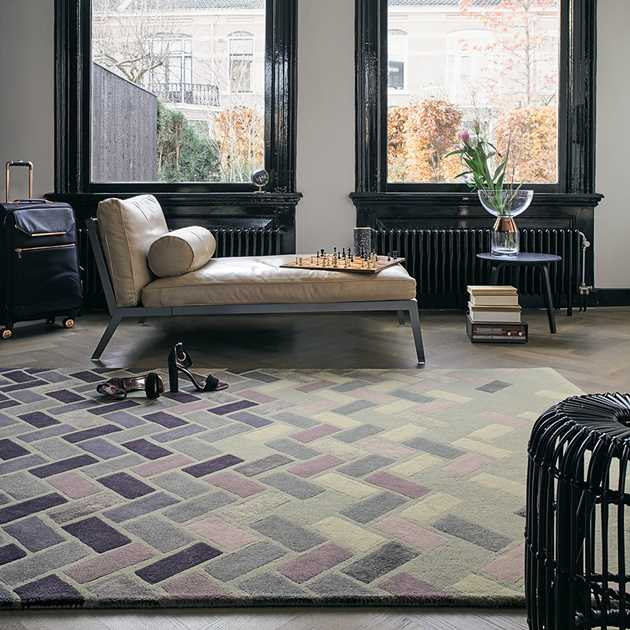 Agave Rug 57104 by Ted Baker in Ash Grey