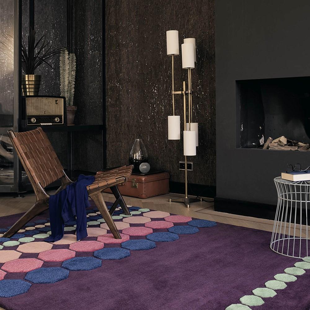 Ultra Violet Purple Ted Baker Designer Rug