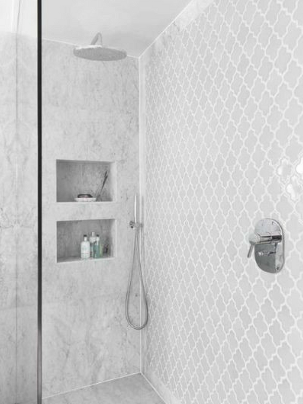 Moroccan Interiors Arabesque Shower Wallpaper