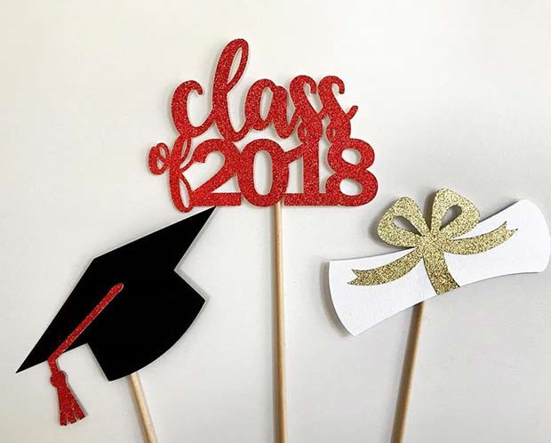 Graduation Themed Selfie Photo Booth Props