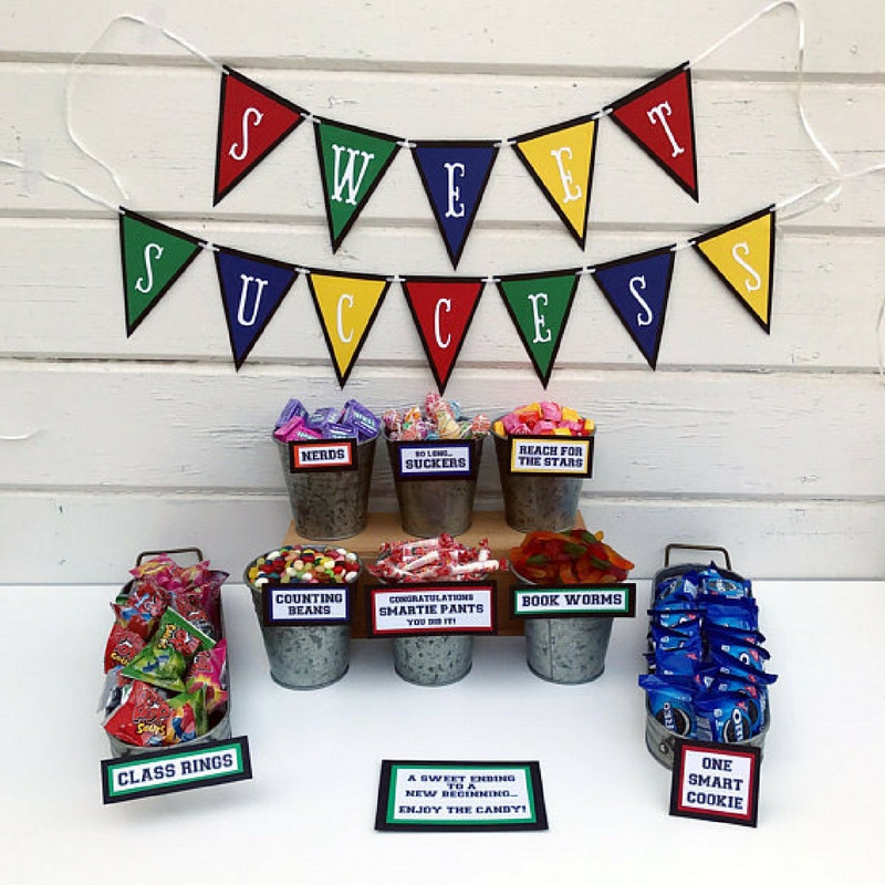 Graduation Themed Sweet and Candy Container Decorations