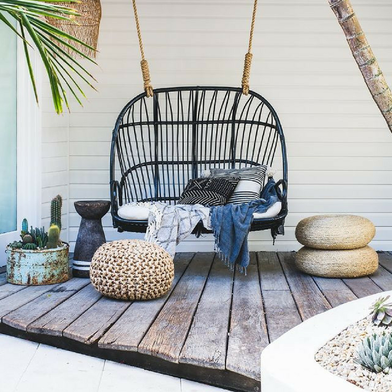 Outdoor Style Guide Garden Poufs