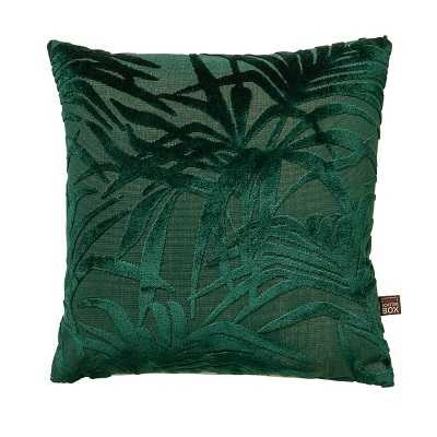 a close up cut out image of the cali botanical leaf cushion in green