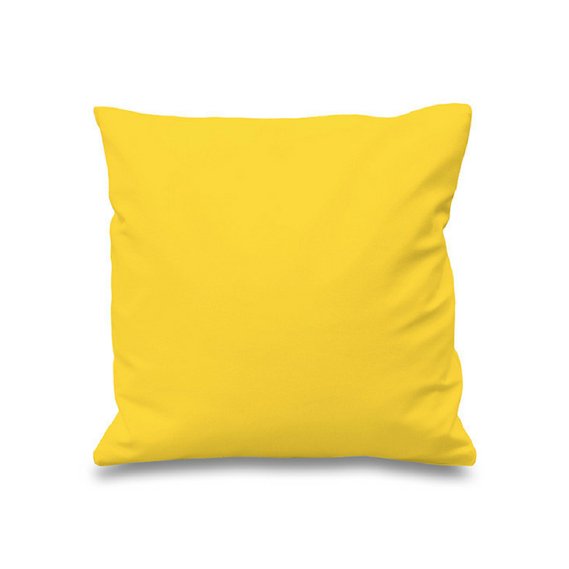 Yellow Accessories Bright Yellow Plain Design Pillow For A Sofa