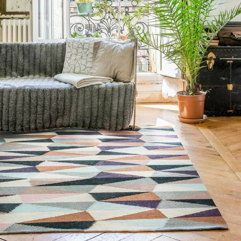 Interior Design Trends modern kilim rug from the rug seller