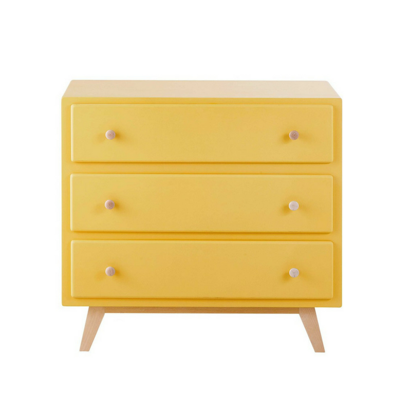 Yellow Accessories Modern 3-tier Chest of Draws