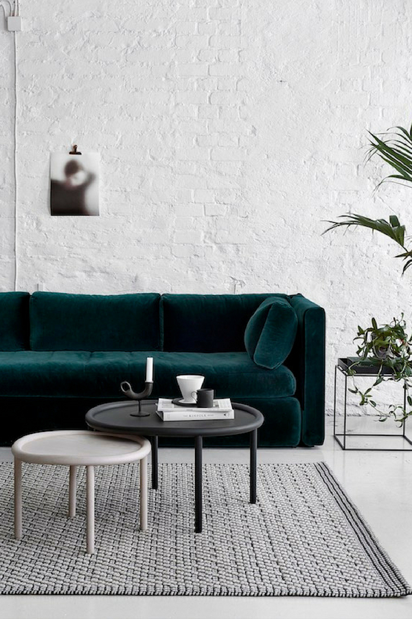 Interior Design Trends dark velvet couch
