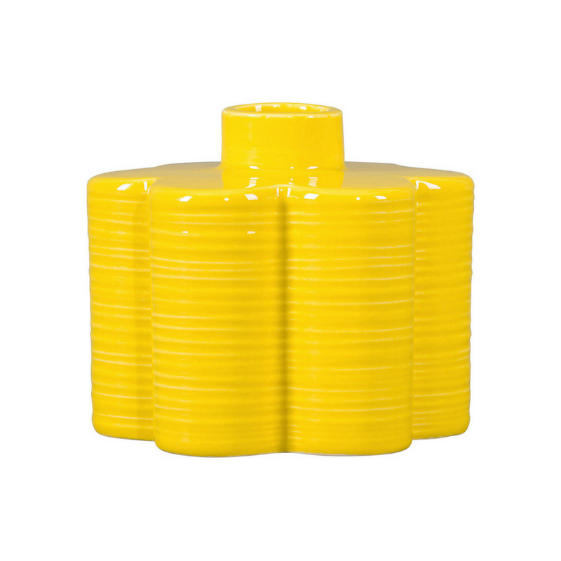 Yellow Accessories Flower Shaped Vase