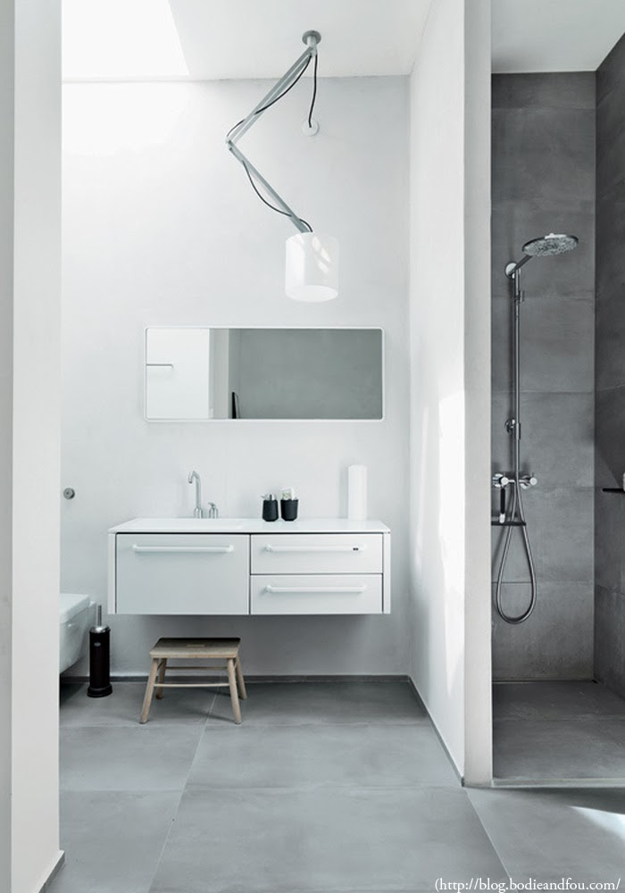 Interior Design Trends concrete modern bathroom