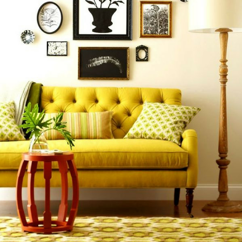 Pumpkin Spice Yellow Home Decor