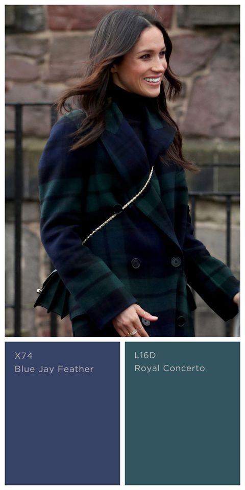 Meghan Markle Wearing a Stylish Dark Green Coat
