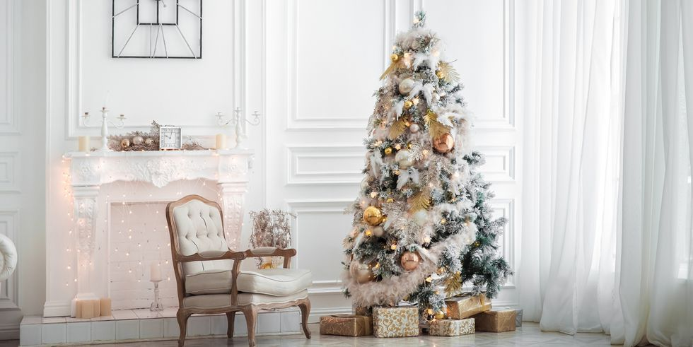 Christmas Tree Decorations in a large room