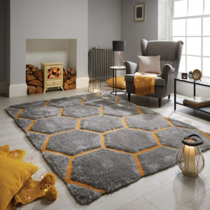 Valentine's Day | Honeycomb Rugs in Ochre by The Rug Seller