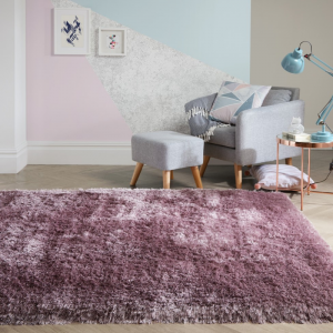 Valentine's Day | Pearl Rugs in Mauve by The Rug Seller