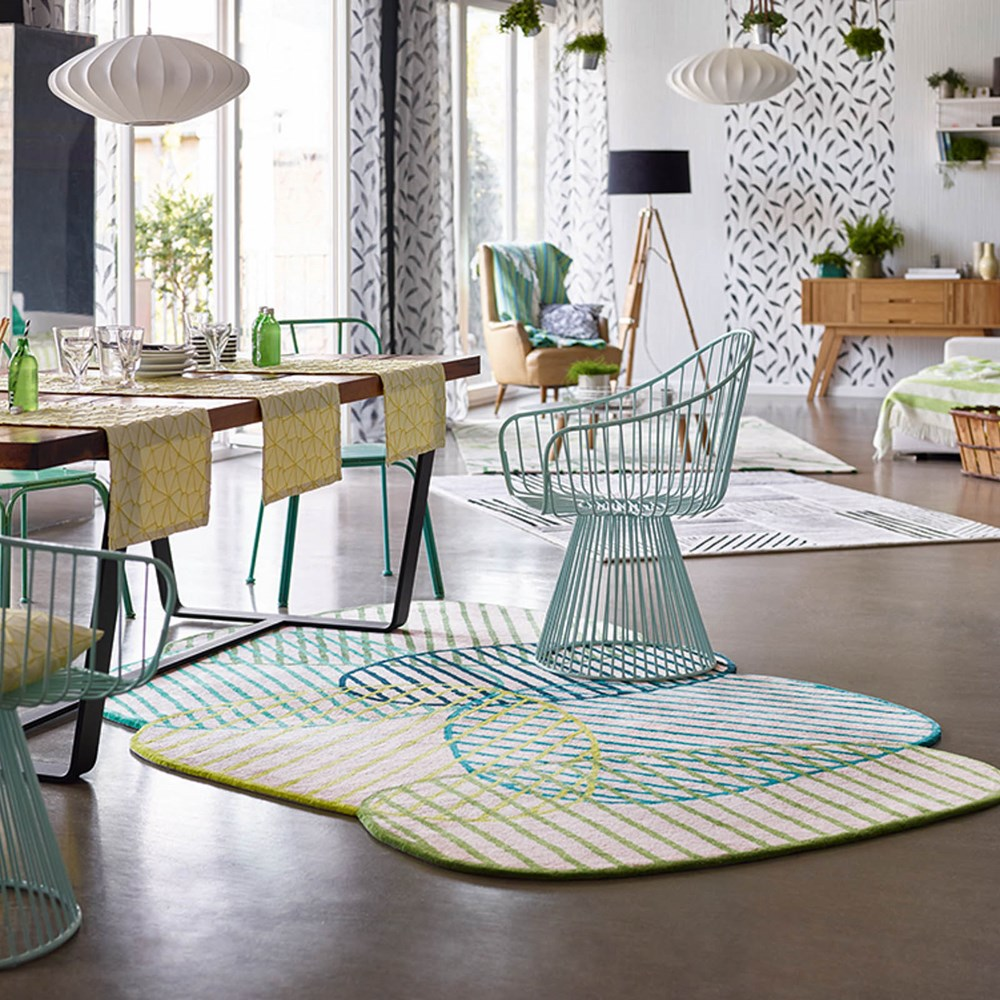 Neo Mint Inspired Graphic Jungle Rug From The Rug Seller