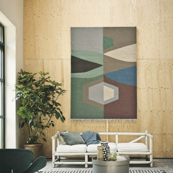 Rugs as Wall Art | Tipi Rug from the Rug Seller