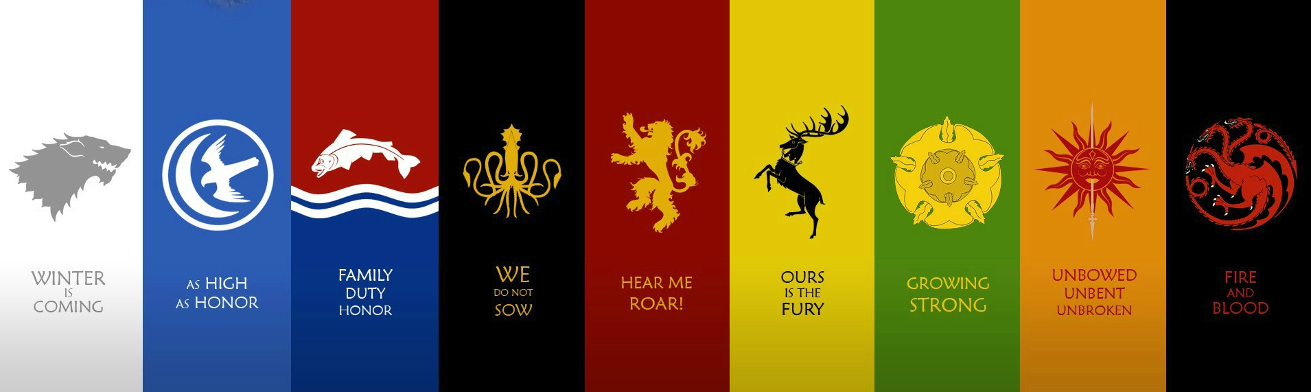 Game of Thrones All Houses