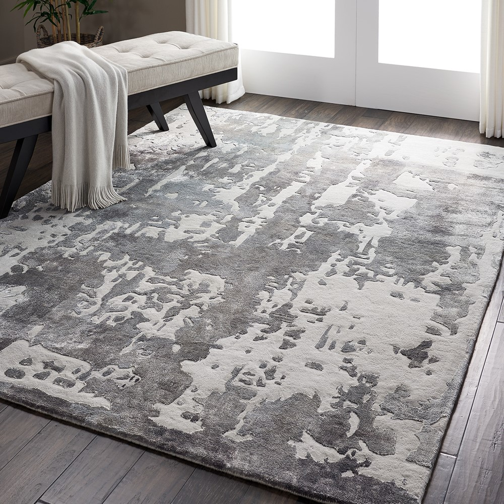 Prismatic Modern Abstract Rugs in PRS12 Charcoal Grey by Nourison