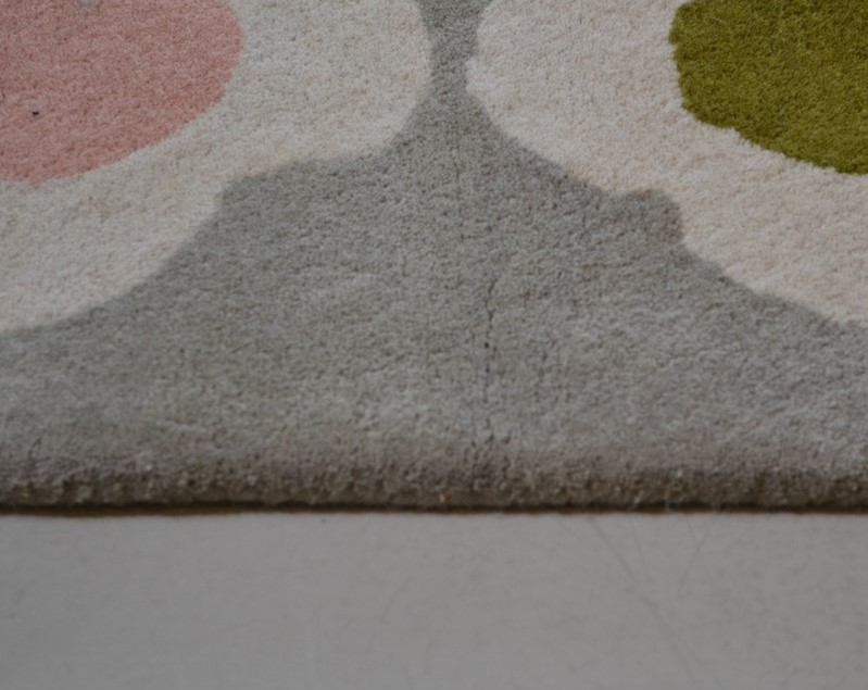 Close up of Orla Kiely Spot rug