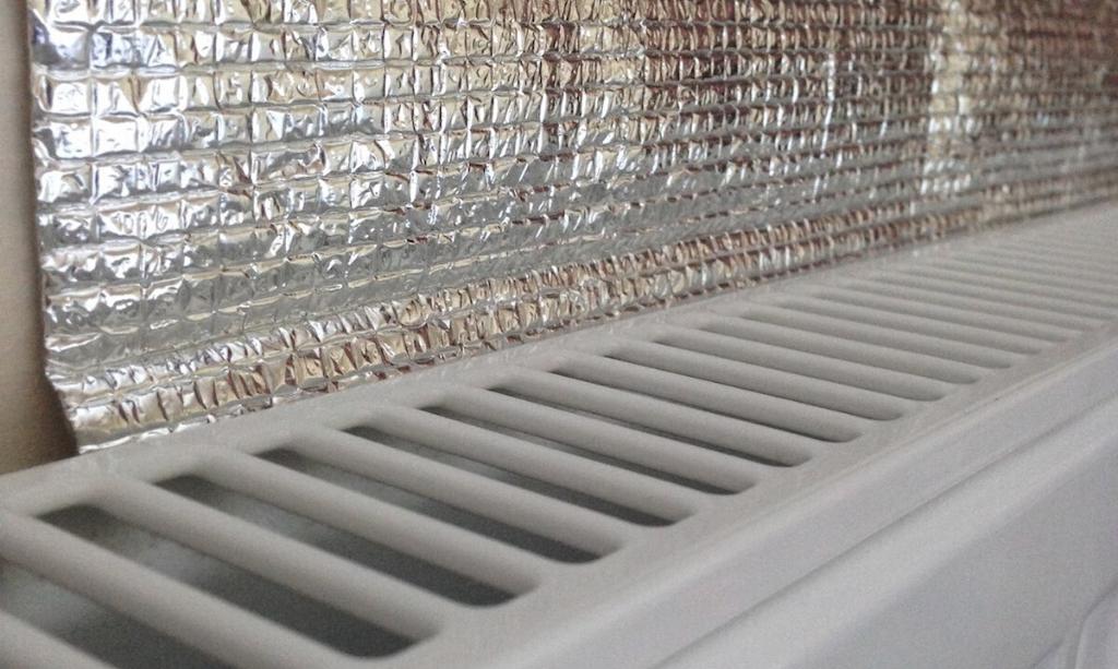 Eco-Friendly Home - Radiator reflector on radiator