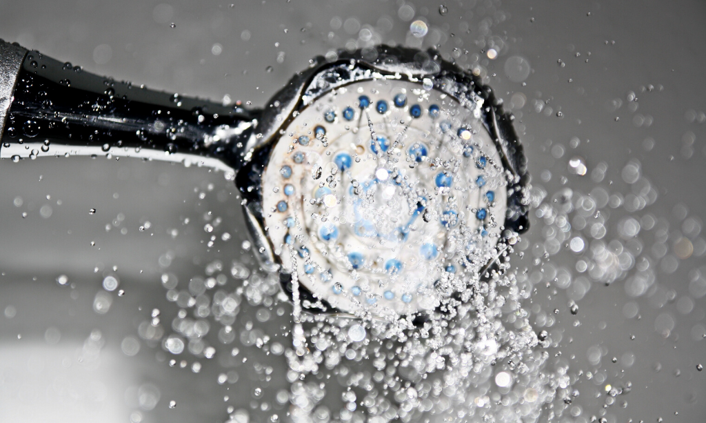 Eco-Friendly Home - Shower Head with running water