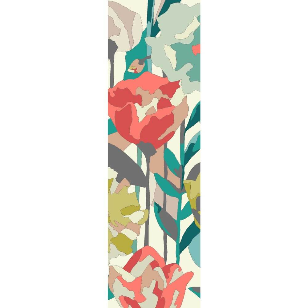 Verdaccio Outdoor Runner with birghtly coloured floral patterns