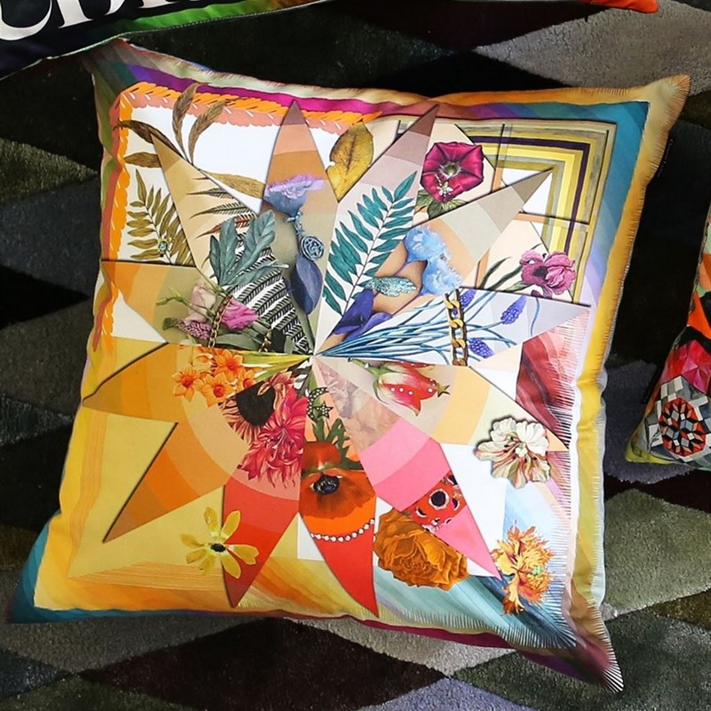botanic brightly printed cushion by Christian Lacroix