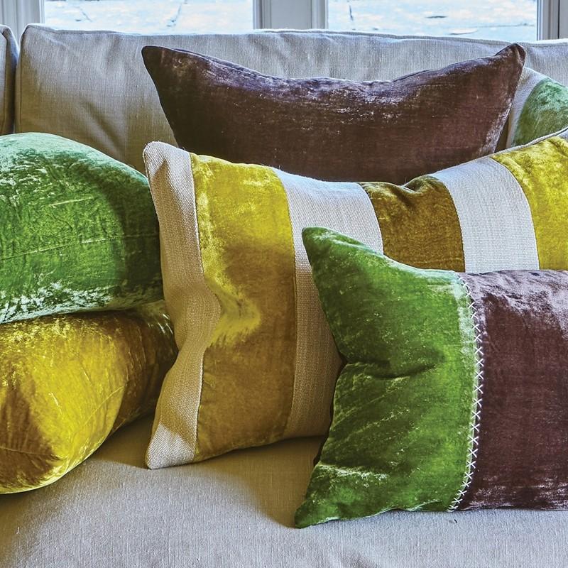 mix and match wide stripe pirnts on william yeoward Nikita cushion