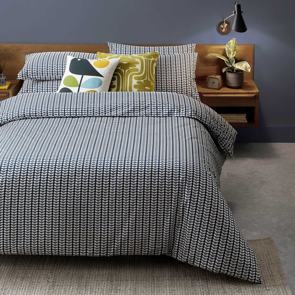 orla keily tiny stem print bedding with mix and match print cushions