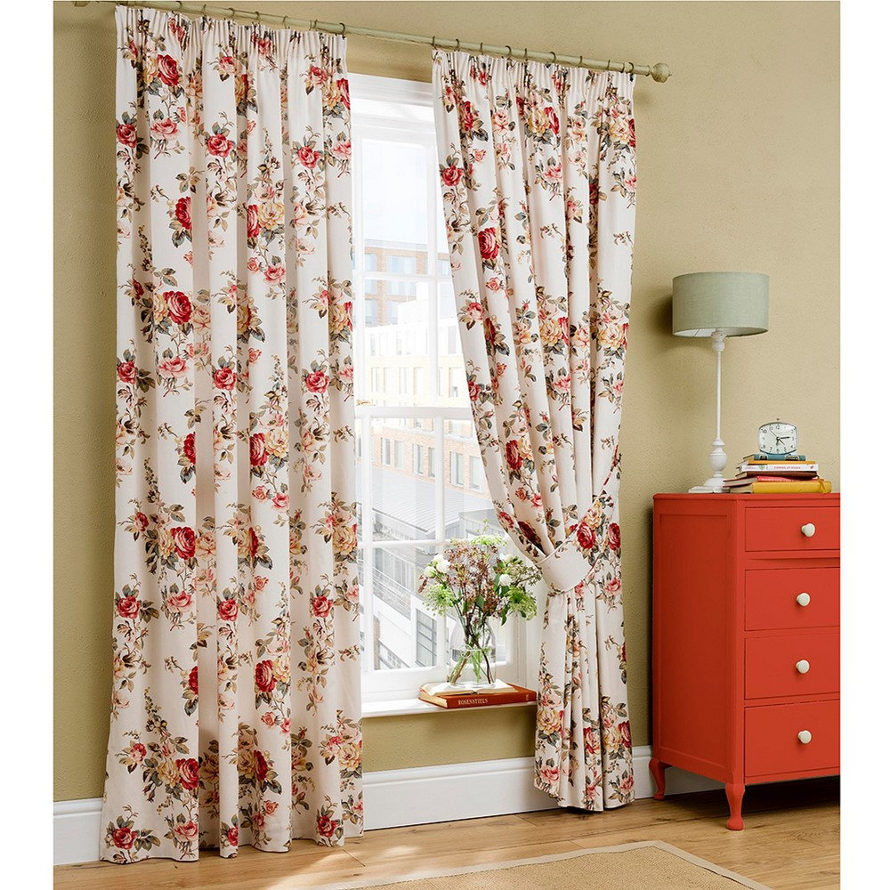 cath kidston floral curtains in a living room window