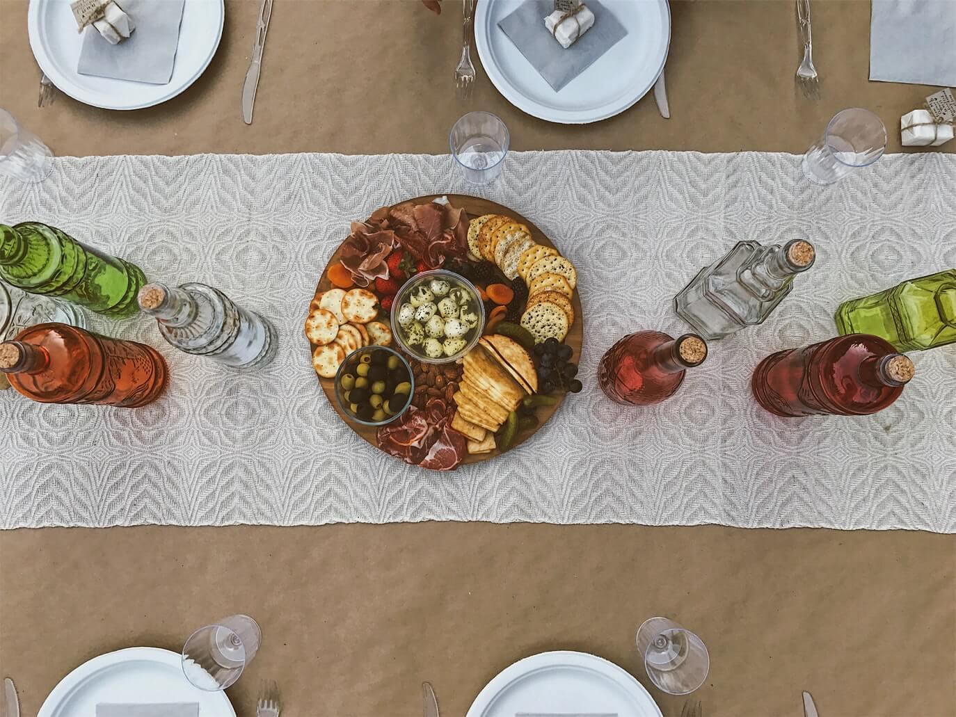 a table set for festive hosting
